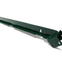 Г-подібний навіс 530мм на стовп 58x38 RAL 6005(зел)  5010(син)