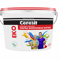 Ceresit Eko (10л) Фарба акрилова Білосніжна
