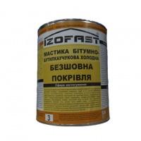 Мастика Гідроізоляційна бітумно-бутилкаучукова (3л) IZOFAST