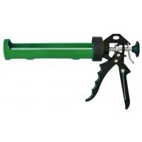 Пістолет для герметика, напіввідкритий пластмасовий, металева ручка