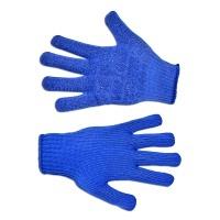 Рукавички плетені з дрібним вкрапленням, Україна (сині,L,646)
