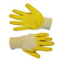 Рукавички скляра б/п, жовте латексне покриття на долоні