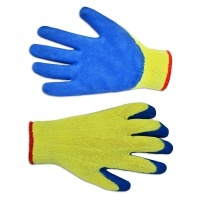Рукавички трикотажні з латексним покриттям, сині