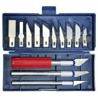Набір ножів для різьблення по дереву 3 ножі + 13 лез