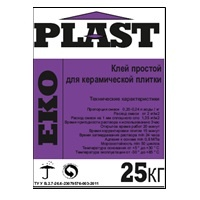 ЕКО Plast (25 кг) Клей звичайний для керамічної плитки зов. та внут. робіт