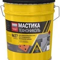 Мастика приклеивающая ТехноНИКОЛЬ №27, ведро 22 кг